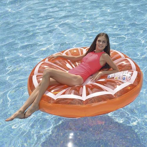 colchoneta inflable naranja gigante jilong - pileta oferta