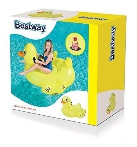 colchoneta inflable para piletas pato grande bestway 41106