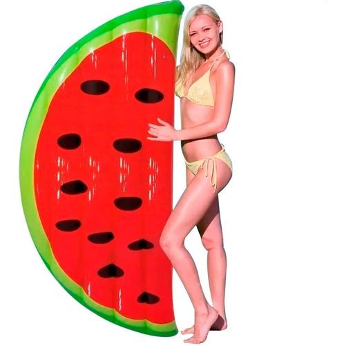 colchoneta inflable pileta media sandia fruta bestway 43159