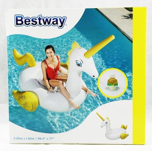 colchoneta inflable piletas unicornio grande bestway 41107!!