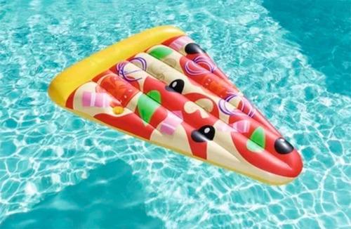 colchoneta inflable pizza flotador pileta bestway 44038 full