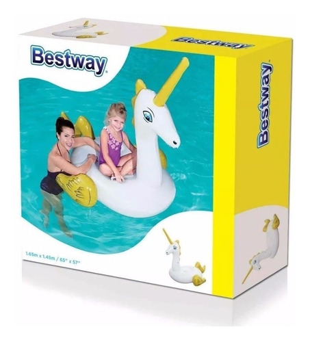 colchoneta inflable unicornio bestway grande 41104 envios!!!