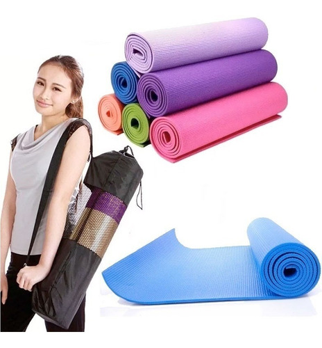 colchoneta mat, 6 mm, yoga, fitness, pilates, gimnasia