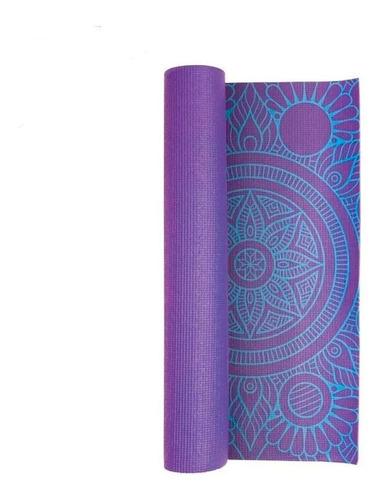 colchoneta mat de yoga diseño 6mm drb con tira porta mat