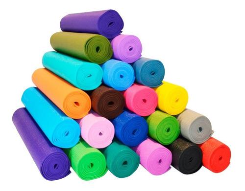 colchoneta mat yoga 5mm text pilates gimnasia fitnes  el rey