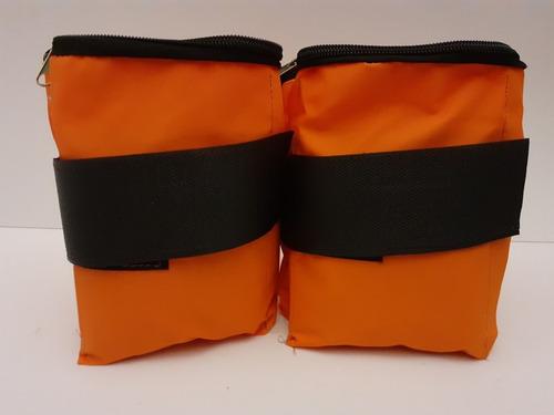 colchoneta+par de tobilleras 2kg c/u+ banda elastica media