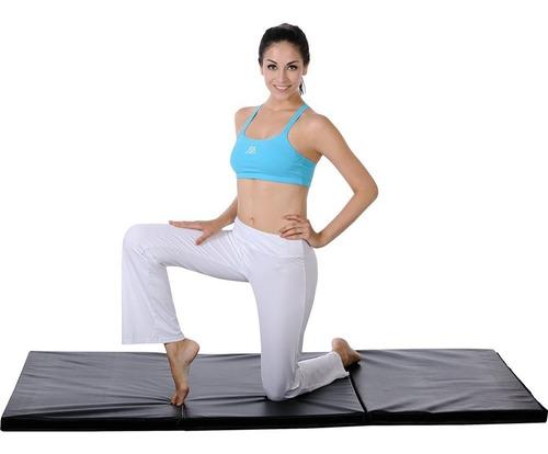 colchoneta profesional try fold gym ejercicio gimnasio yoga