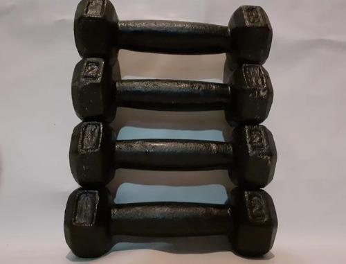 colchoneta + rueda abdominal +2 mancuerna fundicion 1kg c/u