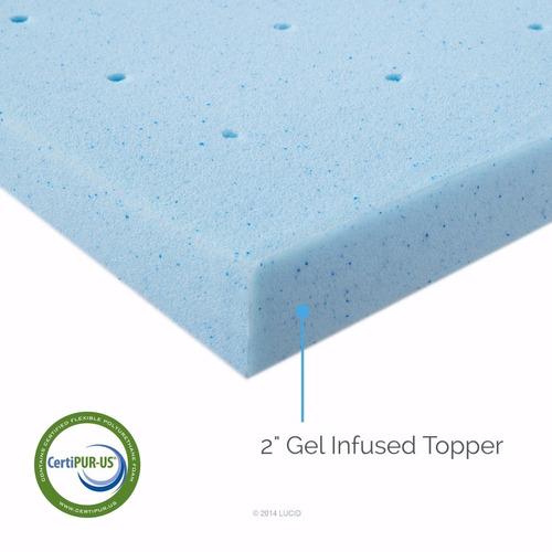 colchoneta topper gel memory foam 2  queen