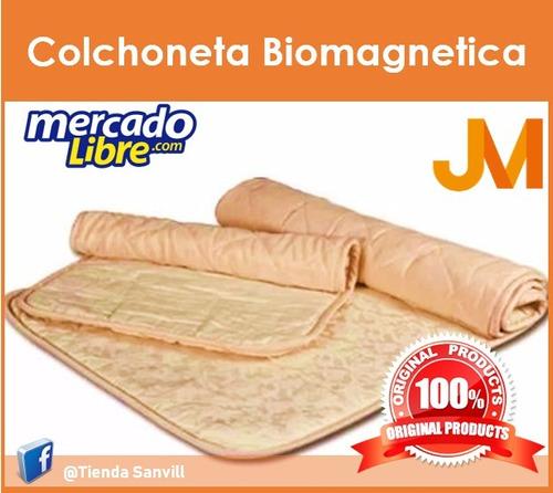 colchoneta viajera jm con bio magnetos original 100%
