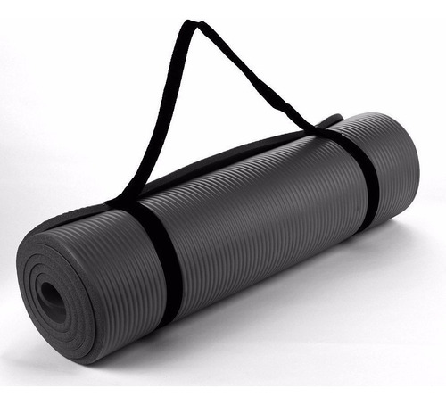 colchoneta yoga mat nbr 10mm  con ligas transportadoras