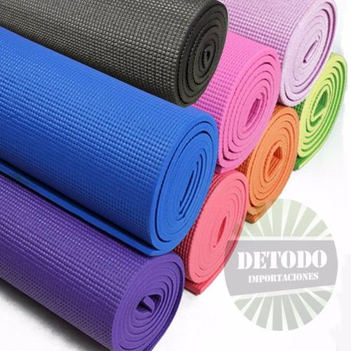 colchoneta yoga pilates fitness gimnasia + estuche
