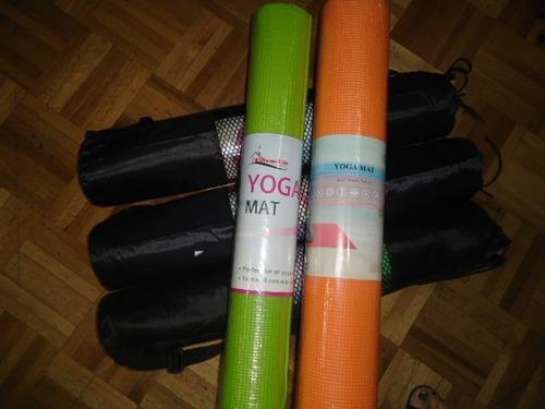 colchonetas para yoga, pilates, ejercicios con bolso