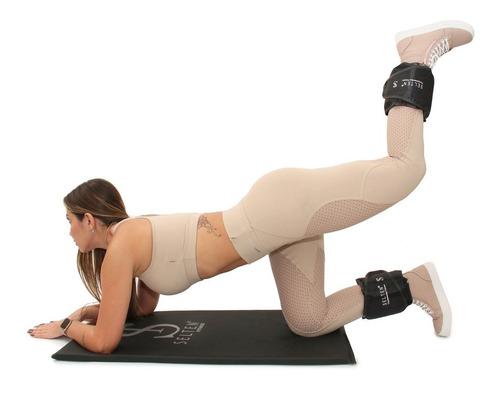 colchonete academia com tornozeleira 3kg corda kit completo