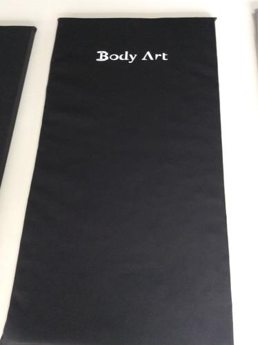 colchonete bodyart emborrachado d80 preto 95cm x 50cm x 3cm