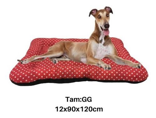 colchonete cama cães e gatos gg 12x90x120cm