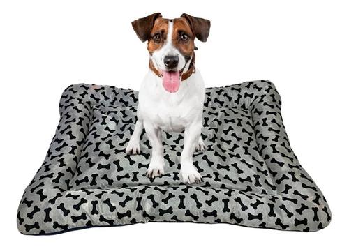 colchonete cama cães e gatos porte grande ossinho 110x80cm