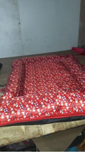 colchonete cama de gorgurinho cães gg 80x110 ziperes saches