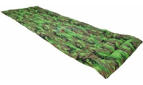 colchonete colchão camping solteiro + saco de dormir