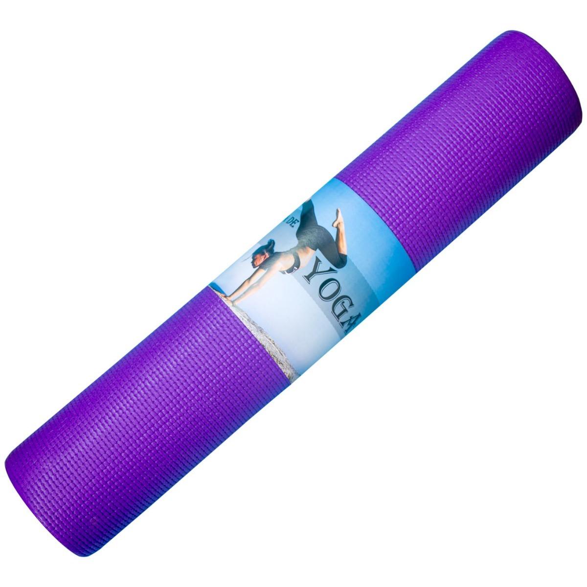 colchonete esteira tapete yoga mat pilates pvc + 1 bolsa. Carregando zoom. d745f7885f11