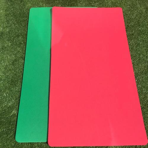colchonete eva 1,00m 53cm 10mm ginástica fitness academia