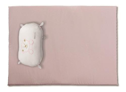 colchonete forra baby com naninha rosa - minha casa baby