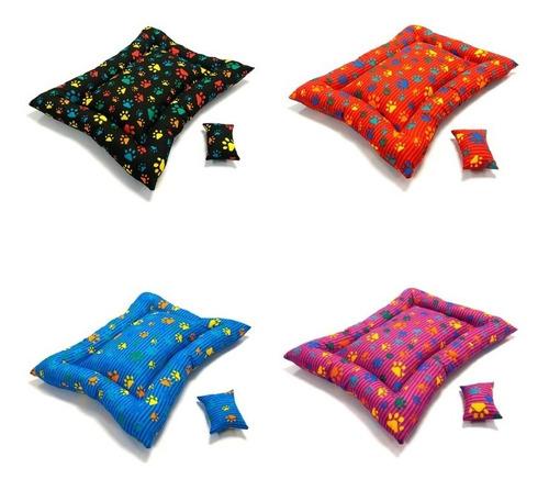 colchonete pet patinhas coloridas várias cores - m