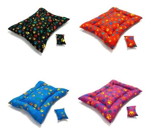 colchonete pet patinhas coloridas várias cores - p