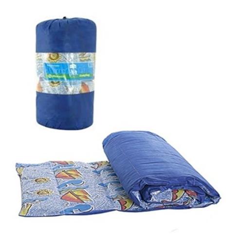colchonete solteiro acampamento + sacola de transporte