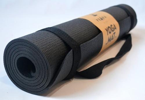 colchonete tapete yoga pilats pro 1,66mx 5mm + alça + manual