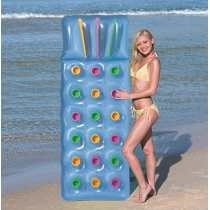 colchonta inflable con posavasos en super oferta
