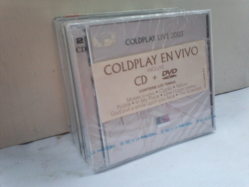 coldplay. live 2003. cd + dvd.