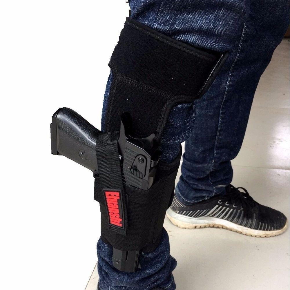 Coldre Calça Tornozelo Revolver Pistola Arma Glock 9mm