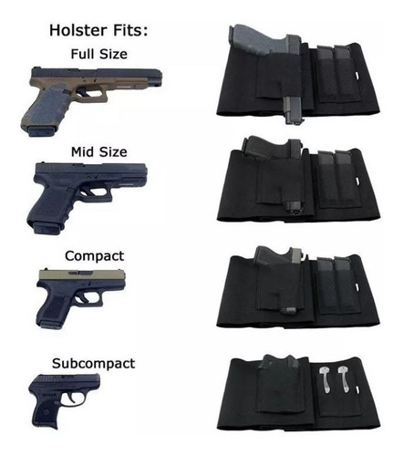 coldre de cintura 100 cm para revolver pistola c carregador