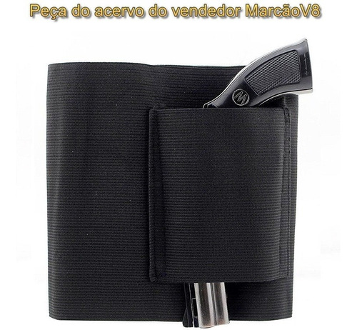 coldre de cintura p revolver pistola c carregador 100 cm ngk