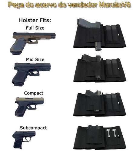 coldre de cintura para revolver pistola com carregador 94 cm