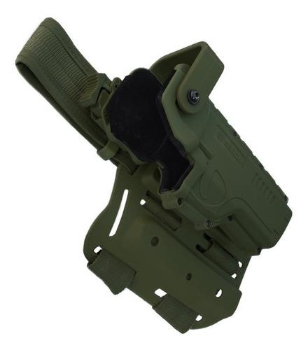 coldre hammer 2 em polimero destro | verde - bélica