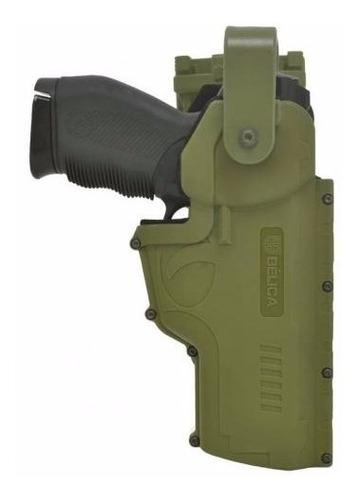 coldre hammer i em polímero cintura verde destro