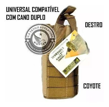 coldre militar universal molle pistola tactical dacs coyote