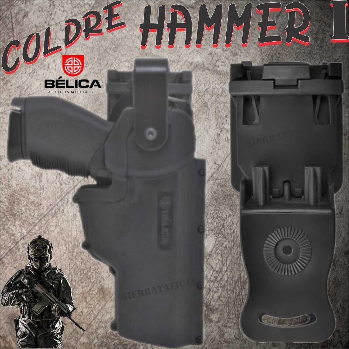 Coldre Para Pistola Hammer I De Cintura Em Polímero Bélica. - R  179,99 em  Mercado Livre 975eb90546
