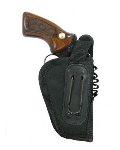 coldre para revólver 32 em nylon baleiro e passador destro