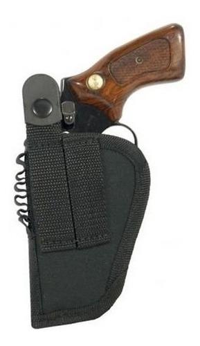 coldre para revólver 32 em nylon passador e baleiro canhoto