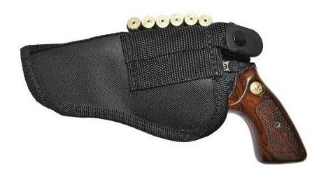 coldre para revólver 38 em nylon com baleiro e passador