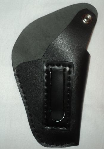 coldre para revólver mod cal 38 cano 3 polegadas em couro
