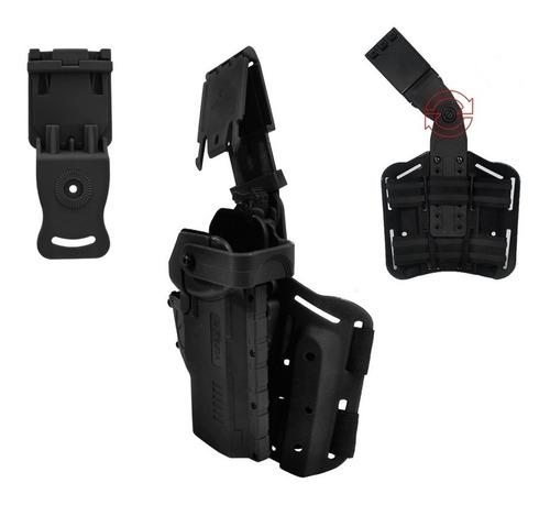 coldre robocop saque rápido perna ou cintura polimero 2 em 1