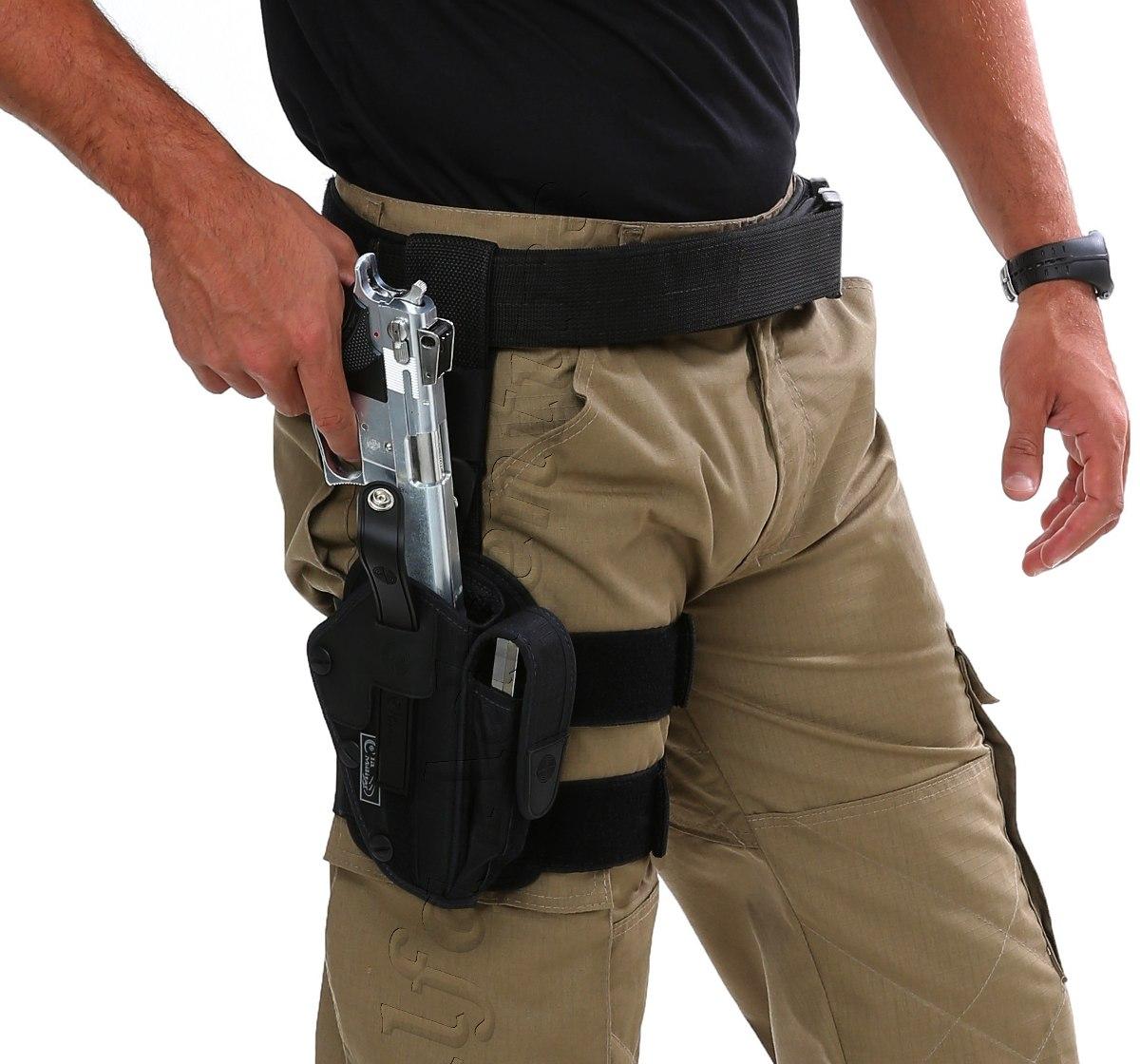 Coldre t tico coxa parafuso 2 tiras cm0042 militar airsoft - Porta pistola da spalla ...