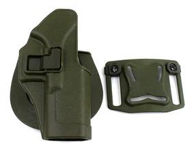 Coldre Tático Polímero Verde Holster Glock 17/18/19/22/23/31