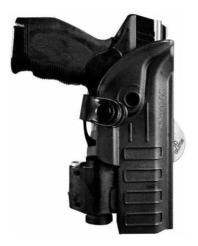 coldre universal polímero p/ pistolas com lanterna - destro