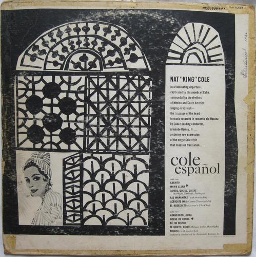 cole español - nat  king  cole (1982) lp vinilo acetato