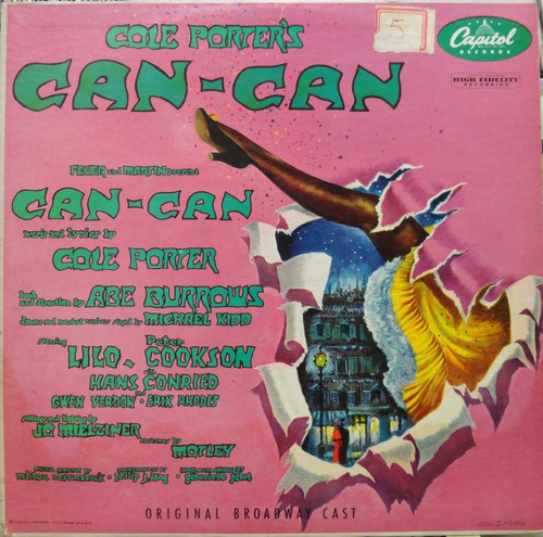 cole porter's can-can broadway cast capitol importado s-452